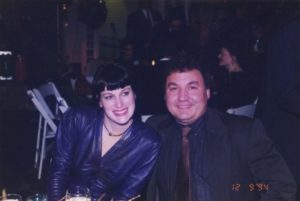 My late husband and I in the 90's at a party